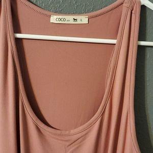 Long Mauve maternity dress SIZE L